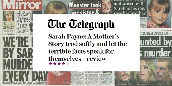 Sarah Payne doc receives rave reviews