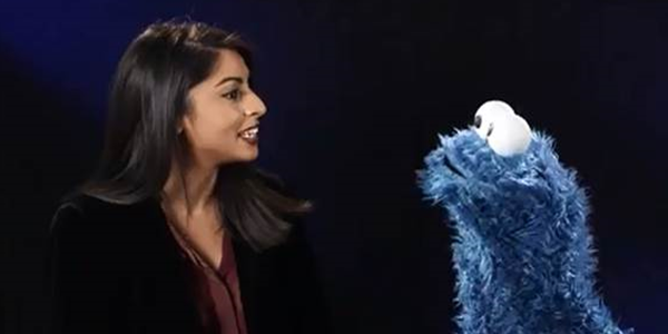 Melissa meets The Cookie Monster
