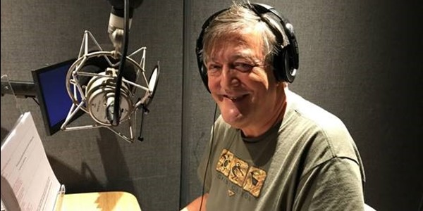 Stephen Fry recording the voiceover for easyJet: Inside The Cockpit